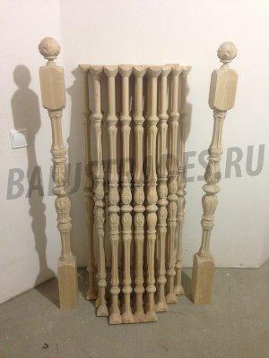 Балясины из дерева и столбы резные на крыльцо